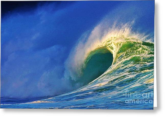 Surf Art Greeting Cards - Breaking Dawn Greeting Card by Paul Topp