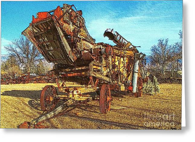 Antique Equipment Greeting Cards - Breaking Things Down Greeting Card by Glenn McCarthy Art and Photography