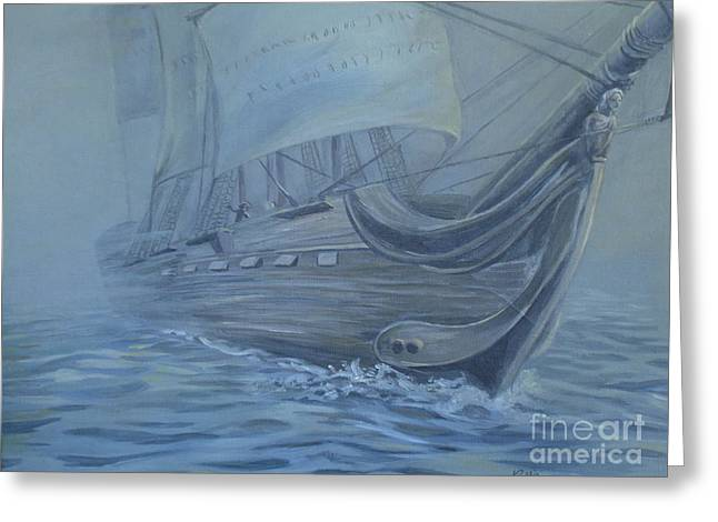 Fog At Sea Greeting Cards - Breaking Through Greeting Card by Callie Smith