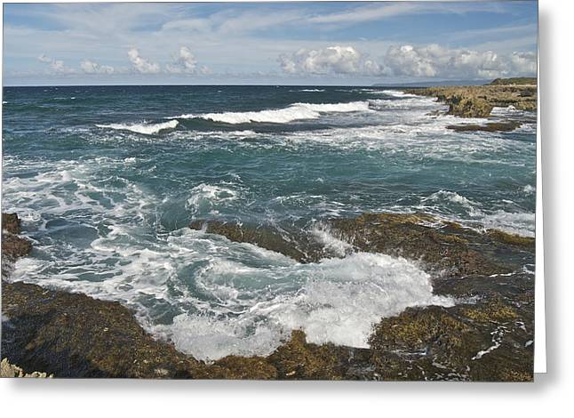 Breaking Waves 7919 Greeting Card by Michael Peychich