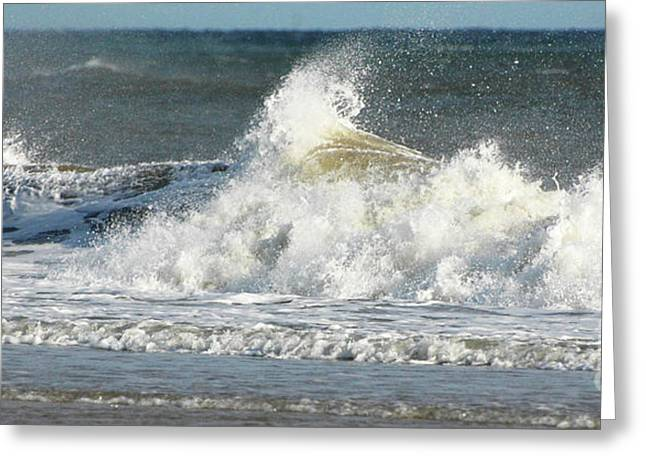 Surfing Art Greeting Cards - Breaking Waves Greeting Card by Anahi DeCanio