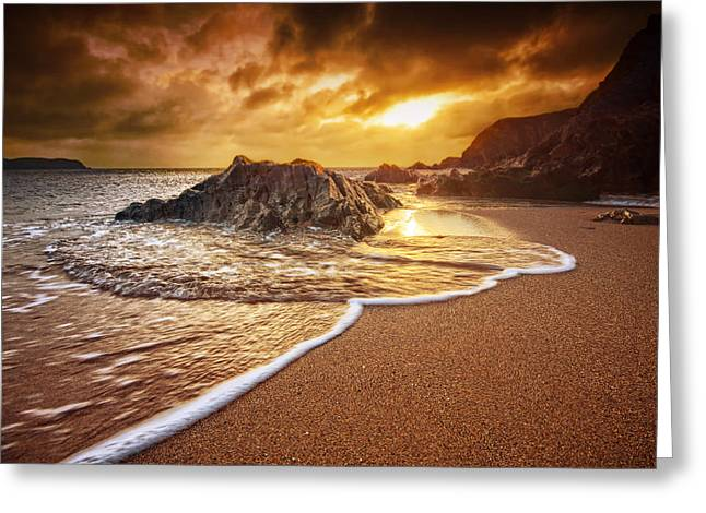 Beach Decor Posters Greeting Cards - Breakthrough at Leas Foot Greeting Card by Mark Leader