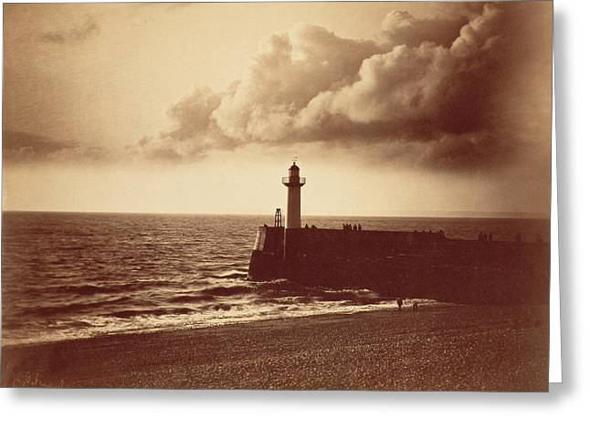 Old Wall Greeting Cards - Breakwater at Sete Greeting Card by Gustave Le Gray