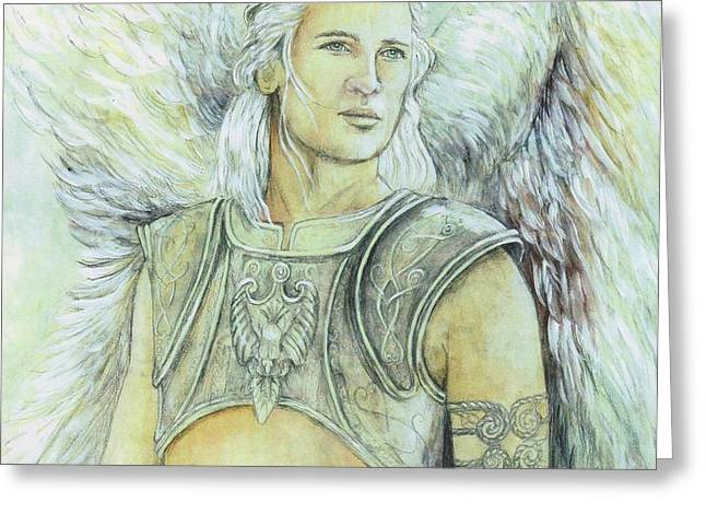 Breastplate of Righteousness Greeting Card by Morgan Fitzsimons