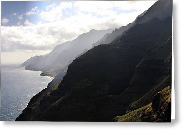 Napali Greeting Cards - Breathless Greeting Card by Jeff Bord