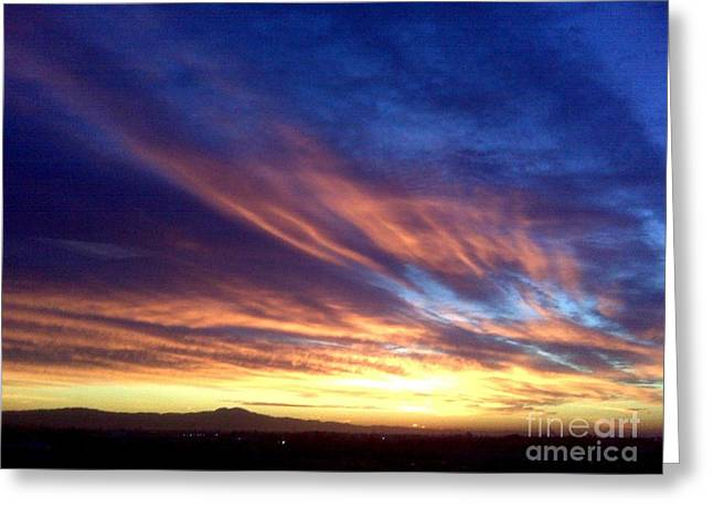 Sun Breaking Through Clouds Greeting Cards - Breathless Greeting Card by Tracy Evans
