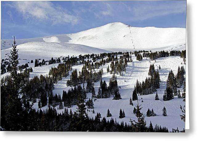 Summit County Colorado Greeting Cards - Breckenridge Imperial Bowl and Peak 8 Greeting Card by Brendan Reals