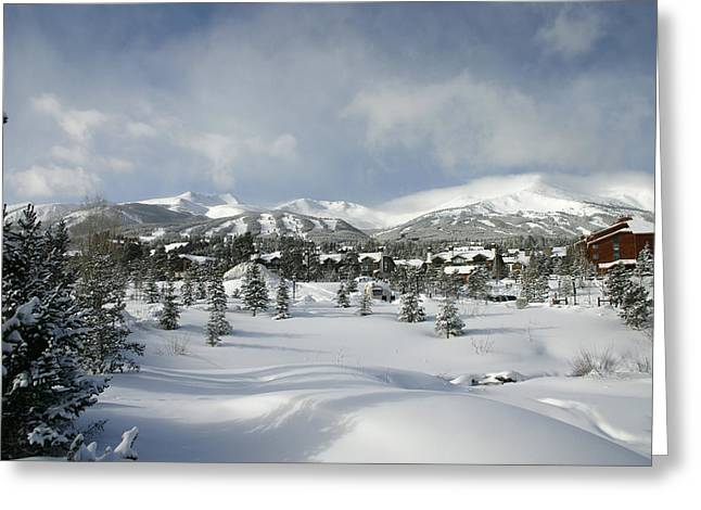 Summit County Colorado Greeting Cards - Breckenridge Powder Day  Greeting Card by Matthew Parks