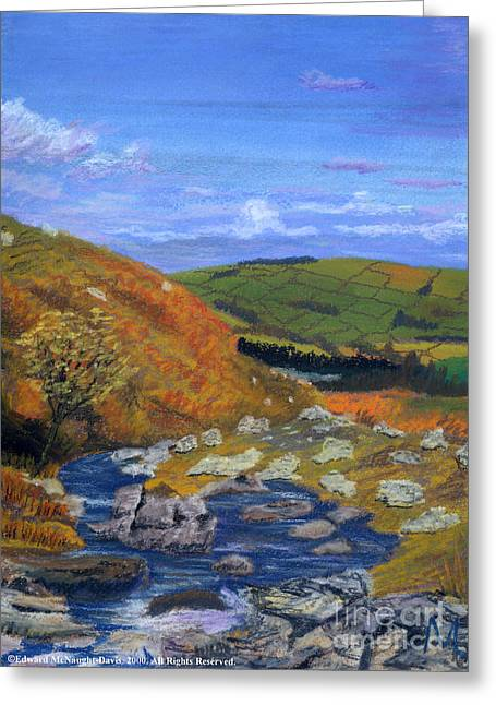 Brook Pastels Greeting Cards - Brecon Beacons Greeting Card by Edward McNaught-Davis