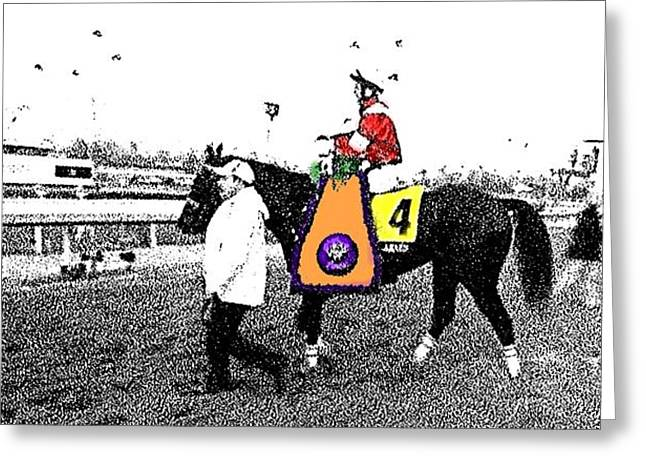 Larned Greeting Cards - Breeders Cup Winner Fort Larned Greeting Card by George Pedro