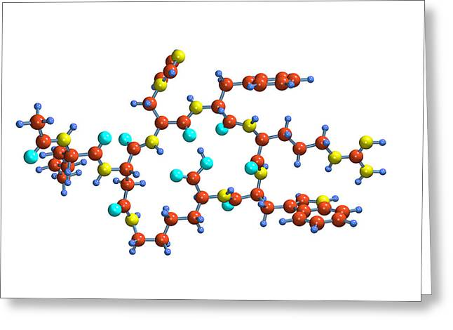 Aphrodisiac Greeting Cards - Bremelanotide Drug Molecule Greeting Card by Dr Mark J. Winter