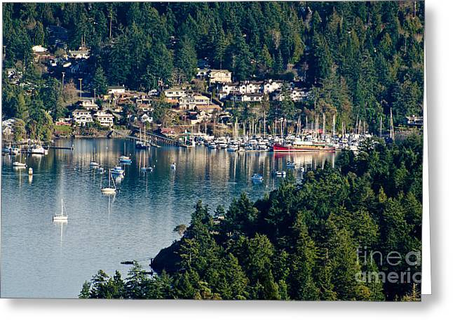 British Photographs Greeting Cards - BRENTWOOD BAY vancouver island BC canada Greeting Card by Andy Smy