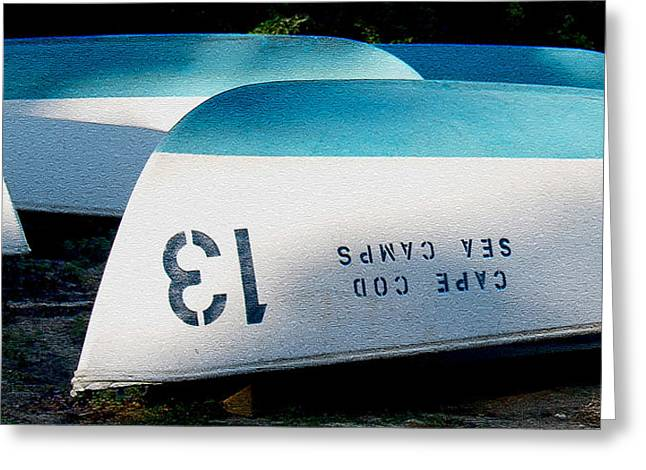 Cod Digital Art Greeting Cards - Brewster MA Boat Bottoms Greeting Card by Paul Gaj