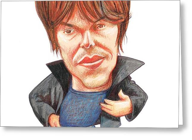Brian Cox, Caricature Greeting Card by Gary Brown