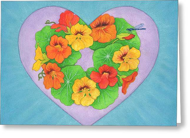 Funds Mixed Media Greeting Cards - Brianna Greeting Card by Lisa Kretchman