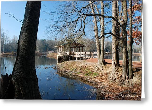 Kay Lovingood Greeting Cards - Brick Pond Park Greeting Card by Kay Lovingood