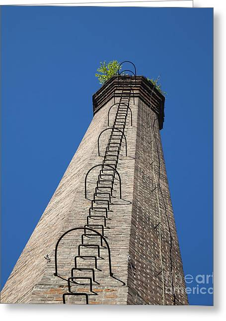 Brick Tower Greeting Card by David Buffington