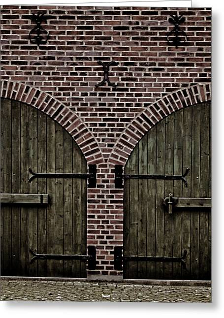 Brick Zipper Greeting Card by Odd Jeppesen
