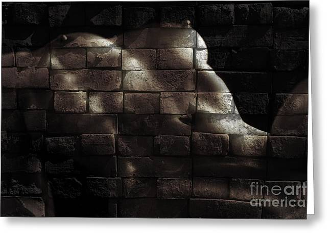 Old Beauty Greeting Cards - Bricks Greeting Card by Naman Imagery
