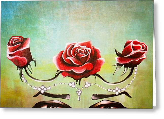 Dali Inspired Greeting Cards - Bridal Roses  Greeting Card by Julia  Kropinova