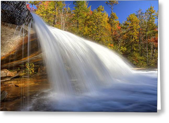 Bridal Veil Falls Greeting Cards - Bridal Veil Fall in Dupont State Forest NC Greeting Card by Pierre Leclerc Photography