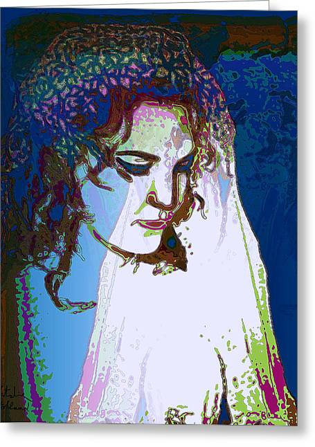 Eyebrow Mixed Media Greeting Cards - Bride Greeting Card by Natalie Holland