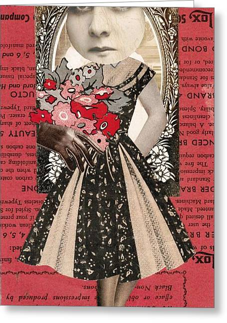 Lox Greeting Cards - Bride On Red Greeting Card by Theo Billings