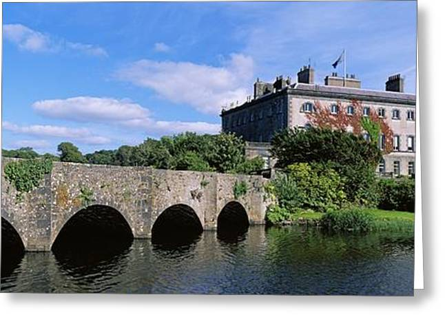 Garden Statuary Greeting Cards - Bridge Across A Lake, Westport House Greeting Card by The Irish Image Collection