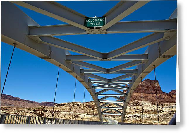 Slickrock Greeting Cards - Bridge across Colorado Greeting Card by Scotts Scapes