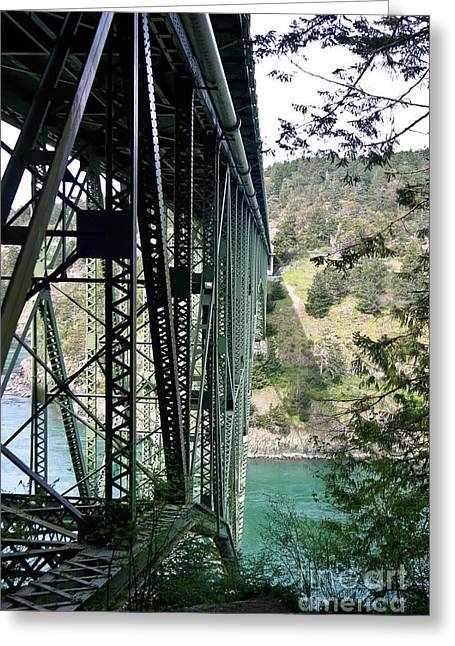 Whidbey Island Wa Greeting Cards - Bridge At Deception Pass Greeting Card by Mitch Shindelbower