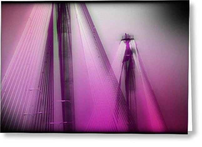 Bridge Cables One Greeting Card by Marty Koch