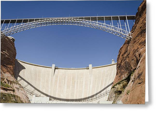 Colorado River Crossing Greeting Cards - Bridge Crossing Colorado River And Glen Greeting Card by Keith Levit