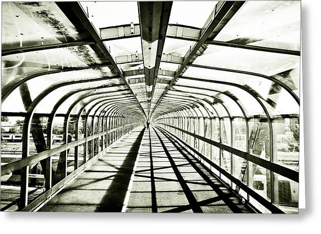 Life Line Greeting Cards - Bridge in monochrome Greeting Card by Tom Gowanlock