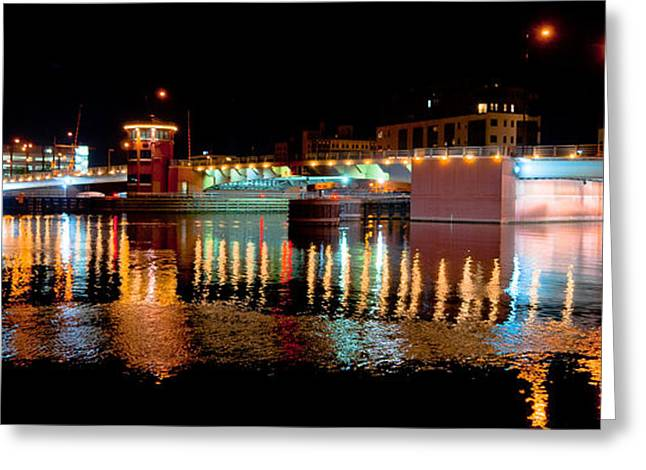 Leicht Greeting Cards - Bridge Lights On The Fox Greeting Card by Shutter Happens Photography
