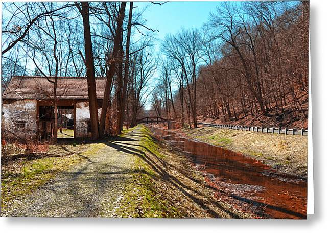 Bridge Number 2 Along The Delaware Canal Greeting Card by Bill Cannon