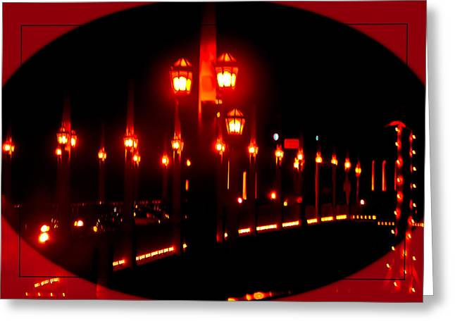 Bridge Of Lions Alit Greeting Card by DigiArt Diaries by Vicky B Fuller