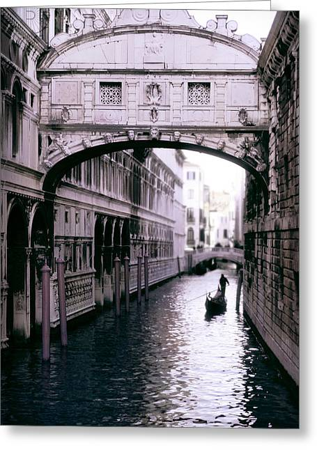 Historical Photographs Greeting Cards - Bridge of Sighs Greeting Card by Traveler Scout