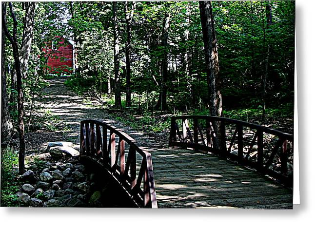 Mississippi Photographs Greeting Cards - Bridge Over Creek by Red Grainery Greeting Card by Tam Graff