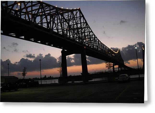 Hebert Greeting Cards - Bridge Over Erato Greeting Card by Marian Hebert