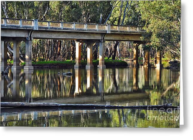 Bridge over Ovens River 2 Greeting Card by Kaye Menner