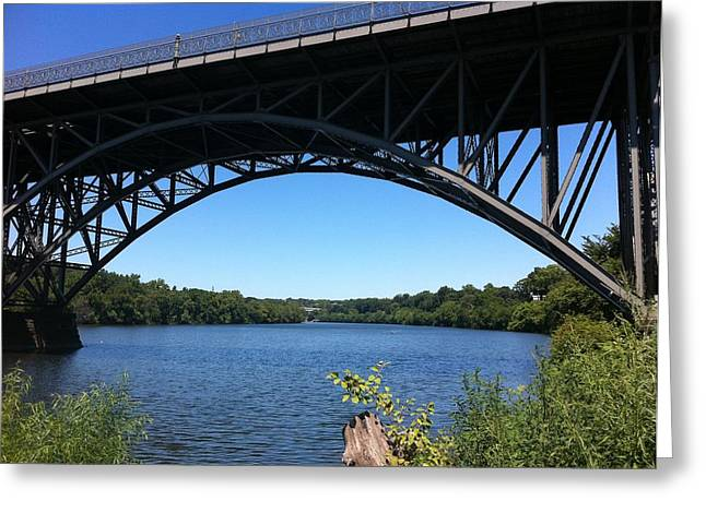 Philadelphia Pyrography Greeting Cards - Bridge over Schuylkill River Greeting Card by Sandahl Parrish