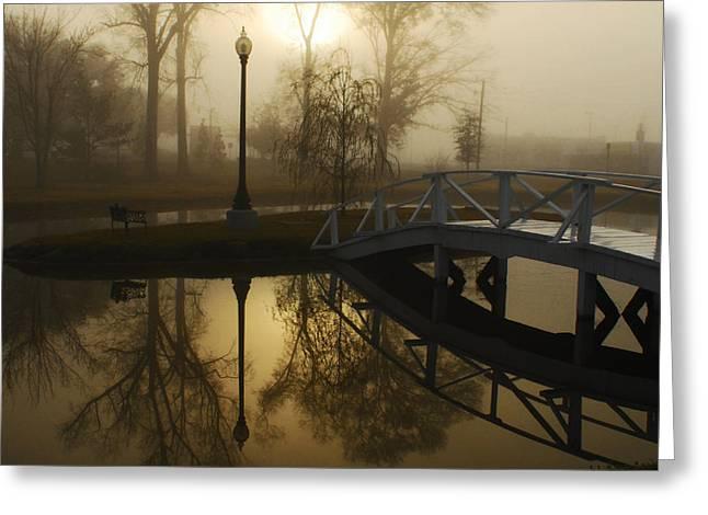 Hattiesburg Greeting Cards - Bridge Over Still Waters Greeting Card by Wayne Archer