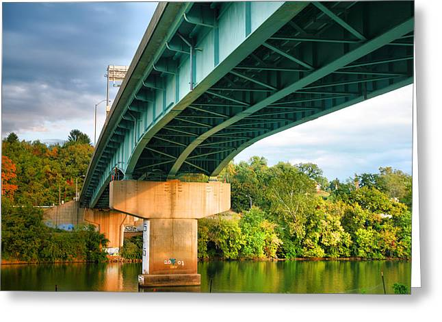 River Prints Greeting Cards - Bridge Over The Monongahela Greeting Card by Steven Ainsworth
