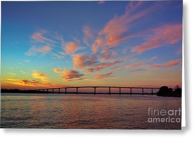 Mid Span Greeting Cards - Bridge over the Patuxent Greeting Card by Susan Isakson