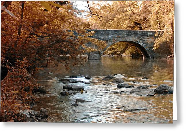 Philly Digital Art Greeting Cards - Bridge Over the Wissahickon at Valley Green Greeting Card by Bill Cannon