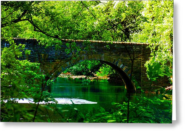 Philadelphia Greeting Cards - Bridge Over the Wissahickon Greeting Card by Bill Cannon