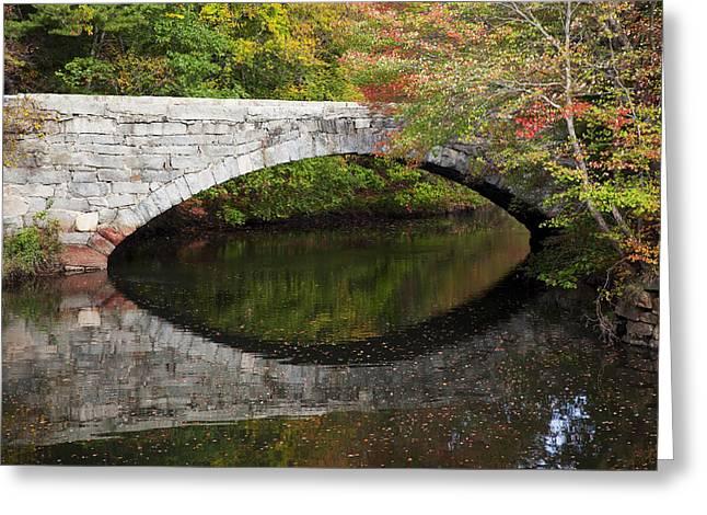 Bridge Reflections Greeting Card by Jenna Szerlag