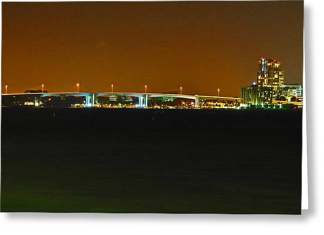 Bridge to Sand Key Greeting Card by Peter  McIntosh