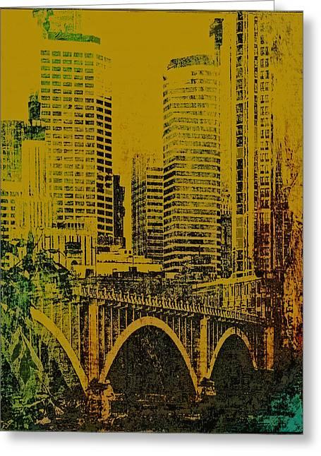 Minnesota Photo Greeting Cards - Bridging Minneapolis Greeting Card by Susan Stone