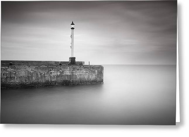 Long Exposure Greeting Cards - Bridlington Harbour Greeting Card by Ian Barber